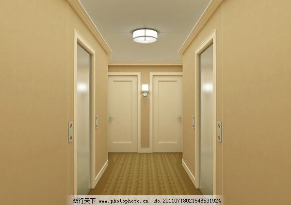 3d室内设计 环境艺术设计中式风格 室内模型 3d设计模型 走道模型 源