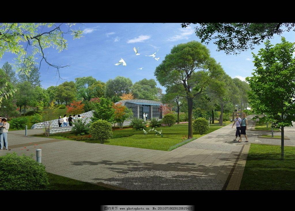 生态景区景观效果图图片_景观设计_环境设计_图行天下