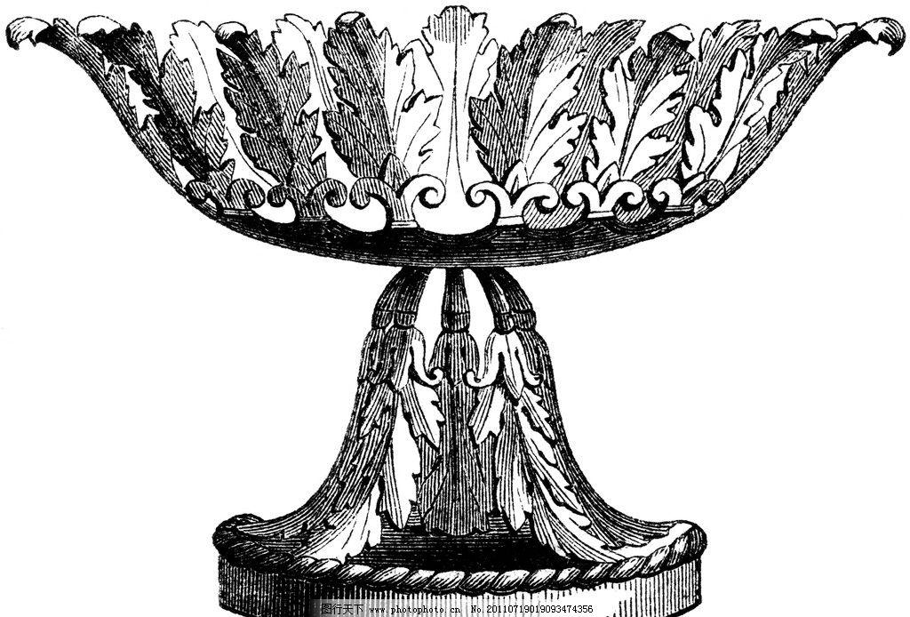 复古钢笔画 复古 钢笔画 欧式花瓶 叶子纹样 绘画书法 文化艺术 设计