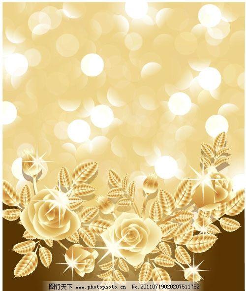 梦幻金色花纹背景图片