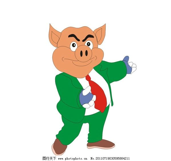 猪八戒 小猪 饲料 宠物 戈多设计 猪饲料 卡通设计 广告设计 矢量 cdr