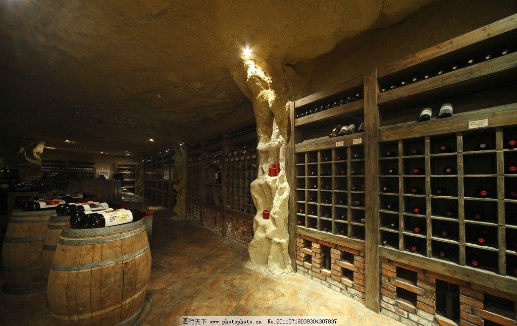 酒窖 橡木桶 红酒 葡萄酒 葡萄酒窖 室内摄影 建筑园林 摄影 350dpi j