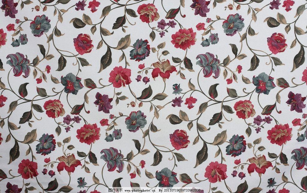 纺织布艺 窗帘 墙纸 装饰装修材料 牡丹 花纹 花形 其他 建筑园林
