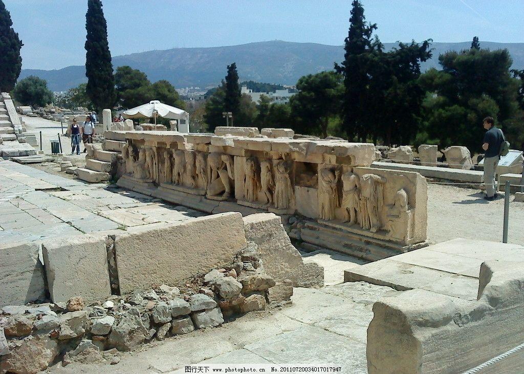 希腊帕特农神庙图片