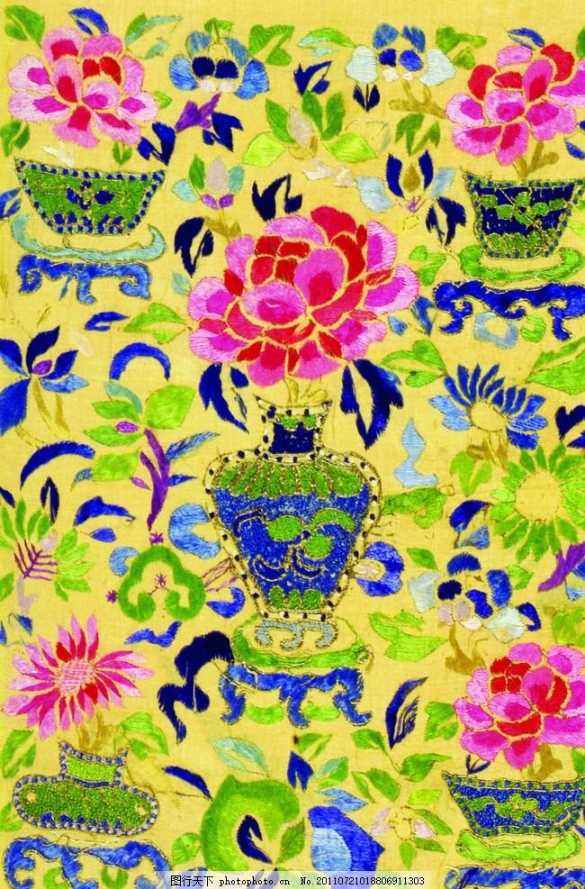 中国传统素材 中国艺术 中国古代艺术 纺织品 锦绣图纹 刺绣艺术 吉祥