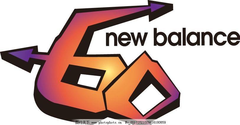 新百伦newalance60day天logo箭头指向数字标志设计广告-new balance