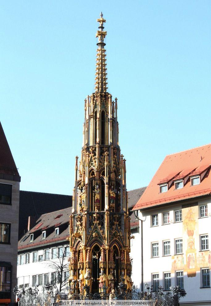 纽伦堡 哥特式建筑风格 哥特式艺术 德国建筑艺术 德国标志性建筑图片