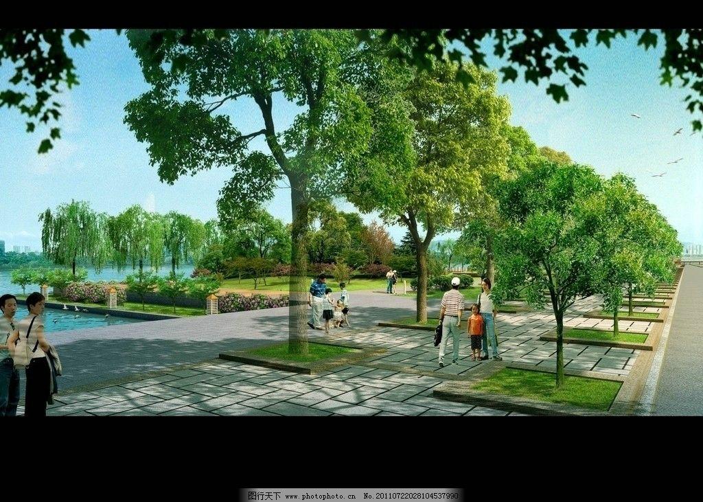 景观效果图 建筑 鸟瞰素材 园林 绿化 背景植物群 植物后期素材 草坪