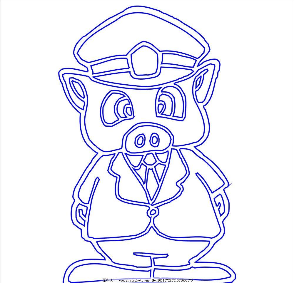 可爱的猪图片