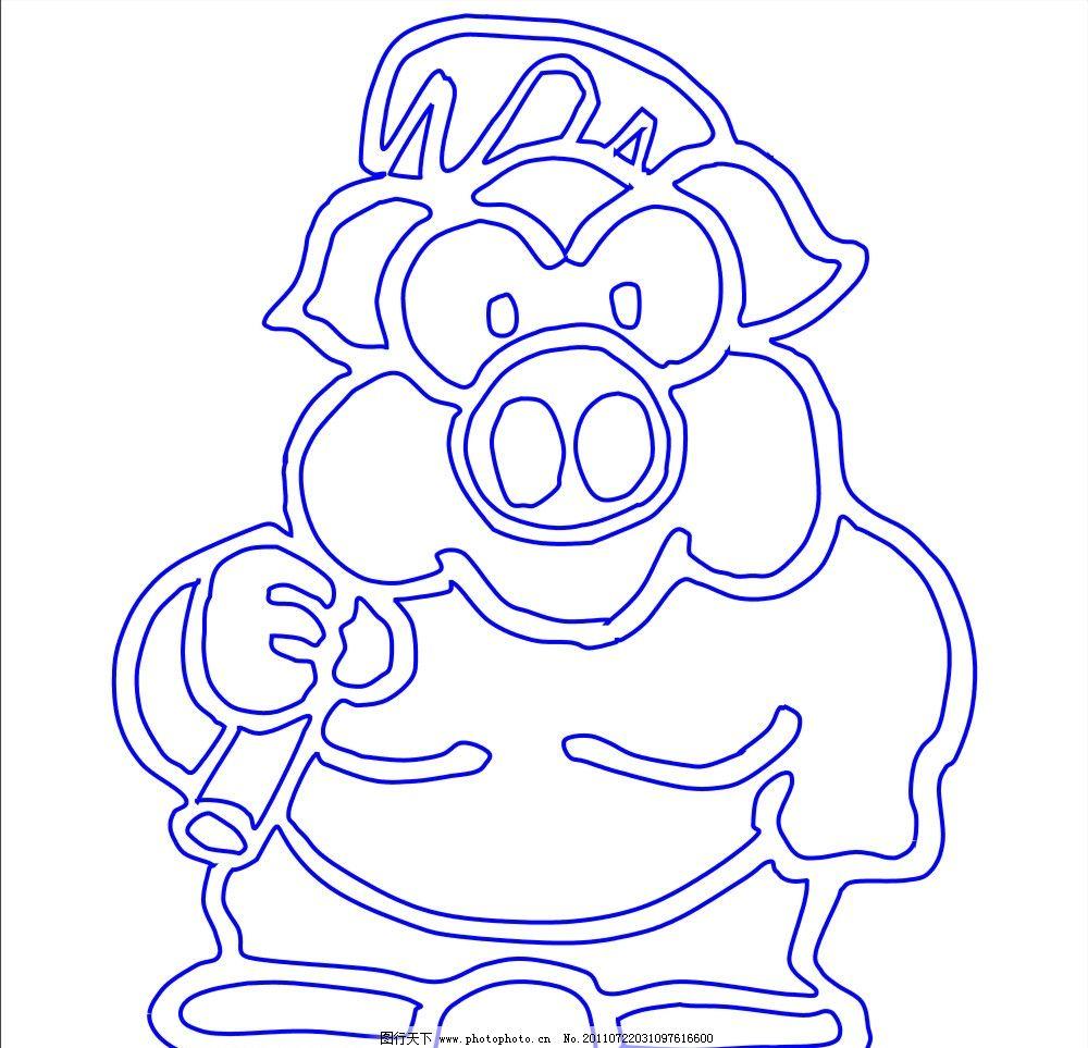 可爱的猪 猪 动物 卡通 矢量 cdr 可爱 其他设计 广告设计