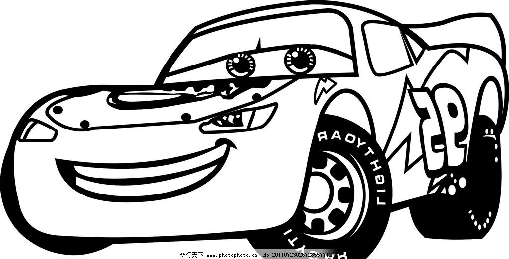 赛车总动员飞机简笔画_赛车总动员 汽车失量图