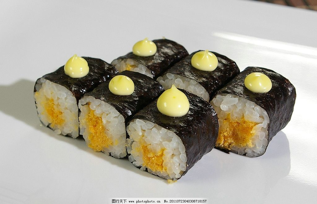 寿司 肉松卷 西餐美食 餐饮美食 摄影 72dpi jpg