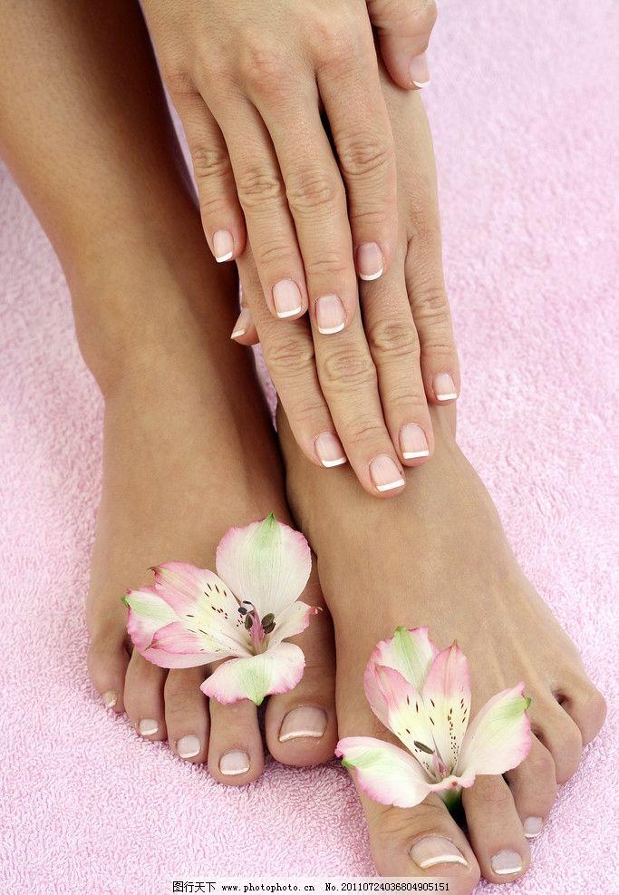 美甲 指甲 手 指头 脚指 脚 足 女性女人 人物图库 摄影 300dpi jpg