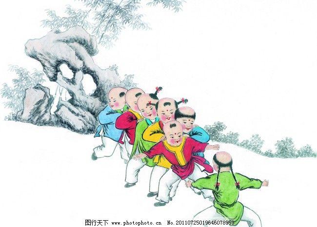 国画儿童 国画儿童免费下载 孩子 童子 小孩 中国国画 中国画