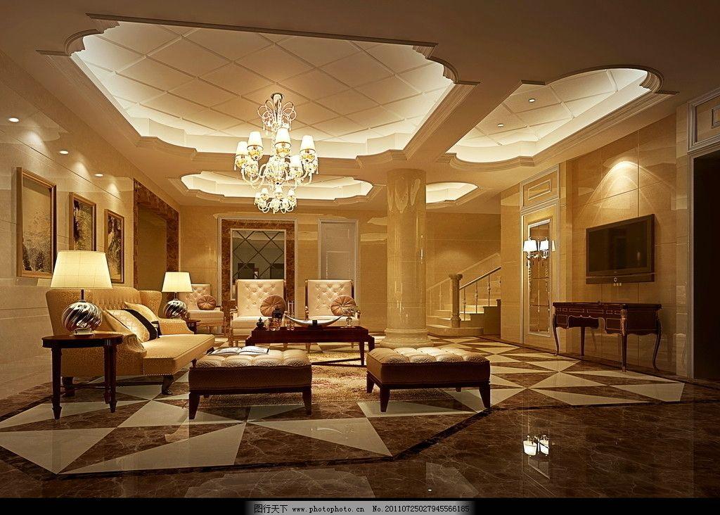 设计图库 环境设计 室内设计  欧式客厅效果图 欧式客厅 客厅效果图