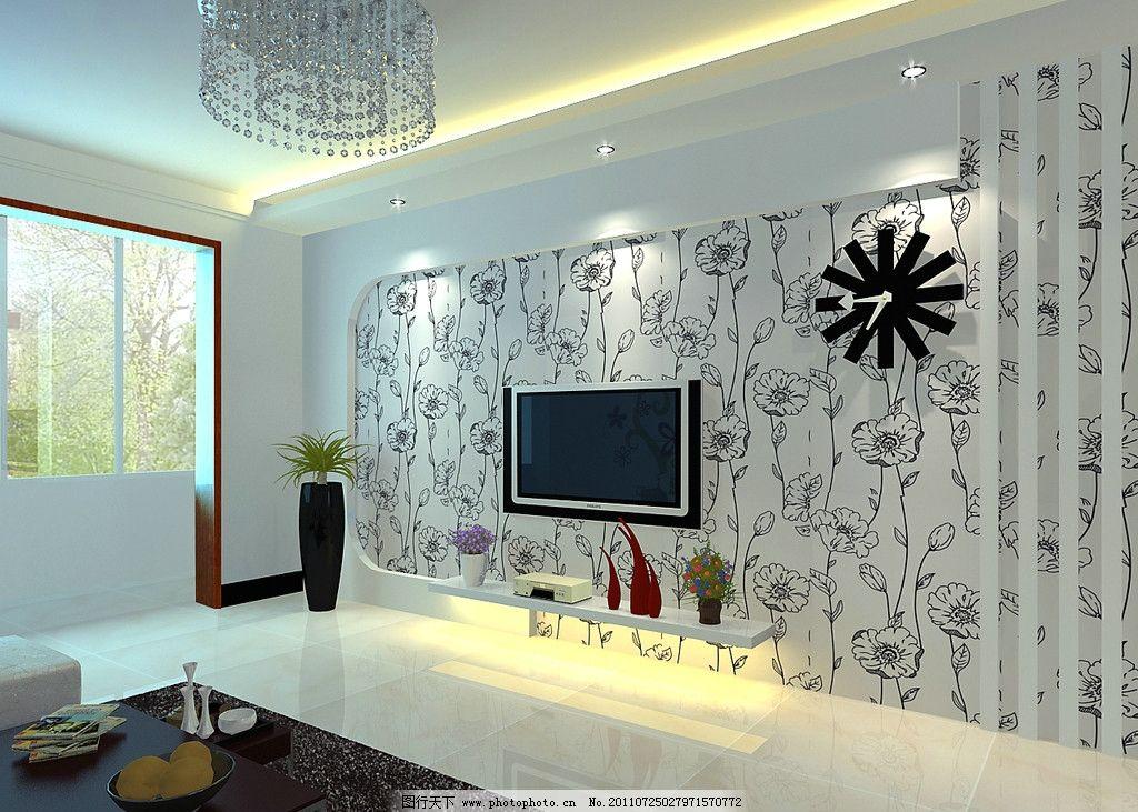 家装效果图 电视墙 造型      室内设计 环境设计 设计 72dpi jpg