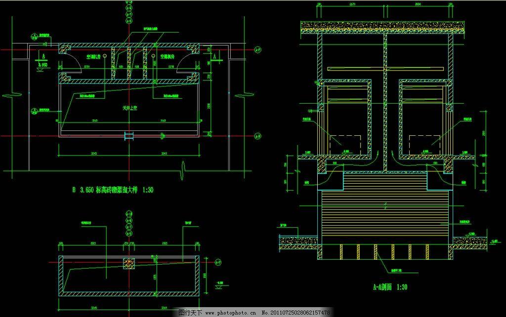 建筑设计  砖砌烟囱 cad dwg 图纸 平面图 素材 装修 装饰 施工图
