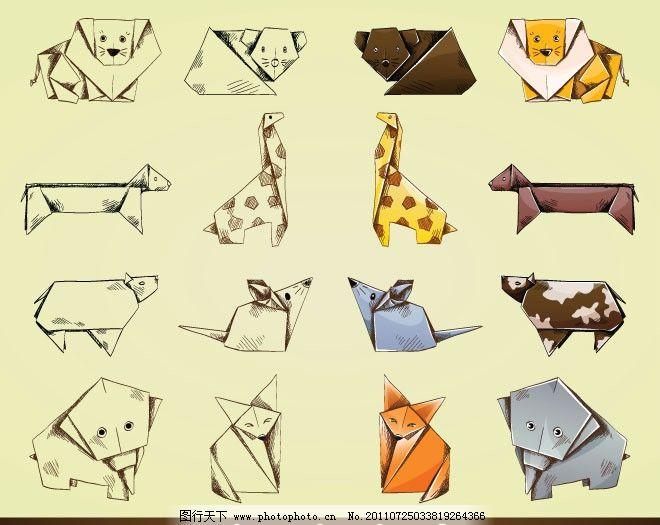 折纸卡通动物图片