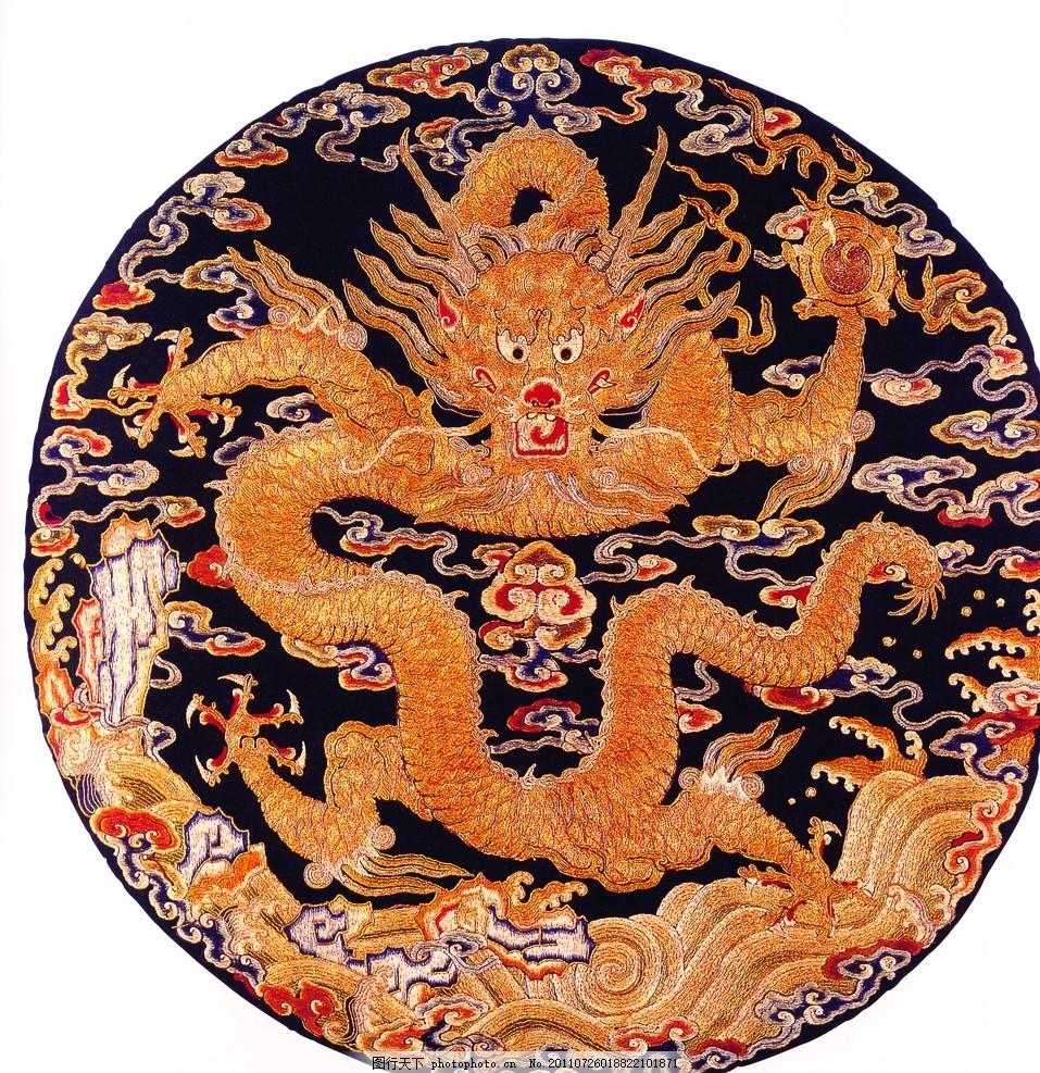 中国古代艺术 纺织品 锦绣图纹 刺绣艺术 吉祥图案 中国传统文化元素