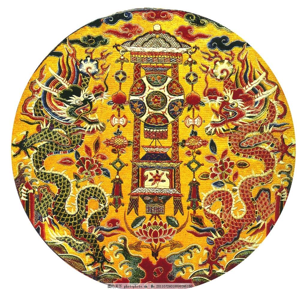 双金龙,刺绣金龙 中国传统吉祥富贵图 龙图 花灯 中国
