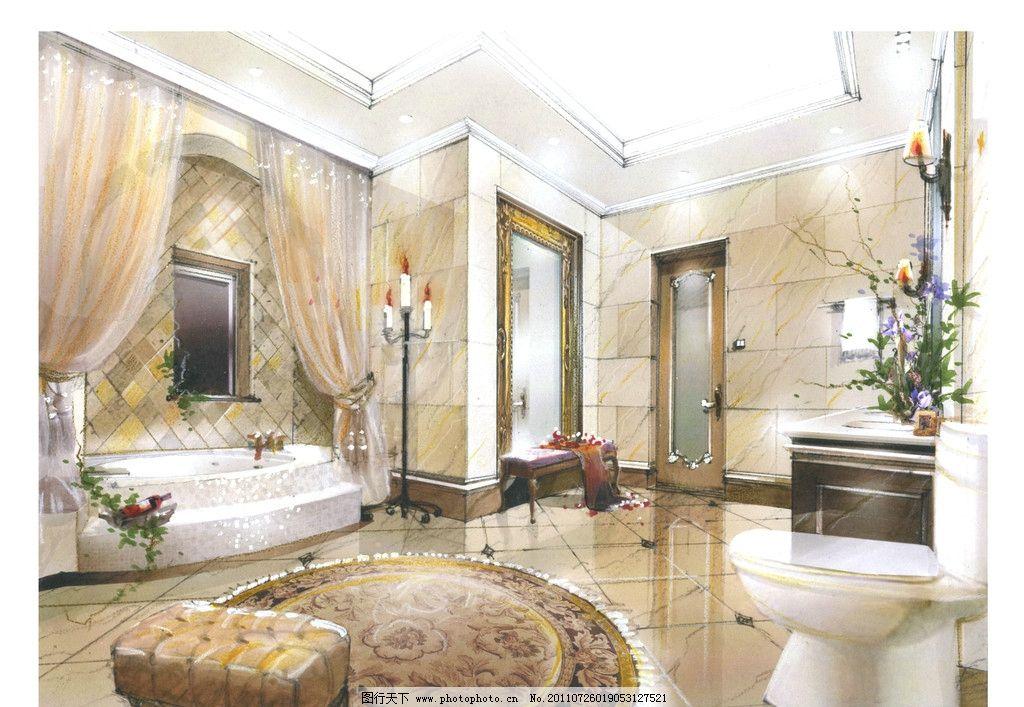 室内手绘图 欧式古典风格