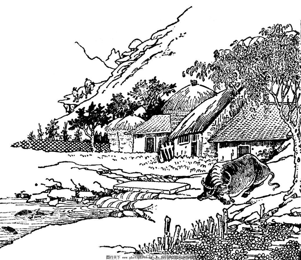民国木刻插画图片