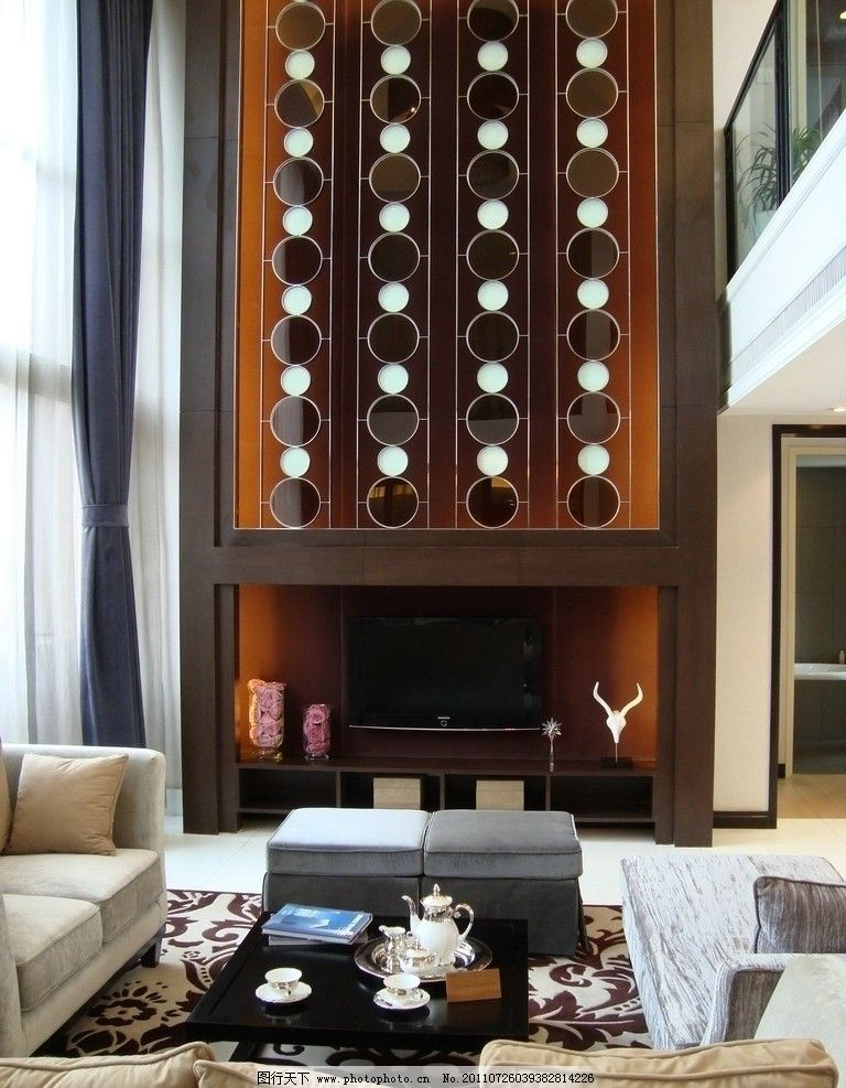 客厅挑空效果图 客厅挑空 挑空客厅 复式装修 别墅装修        欧式