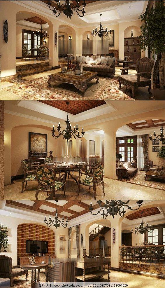 別墅效果圖 別墅3d模型 3d家裝模型 工裝模型 3d室內設計 環境藝術
