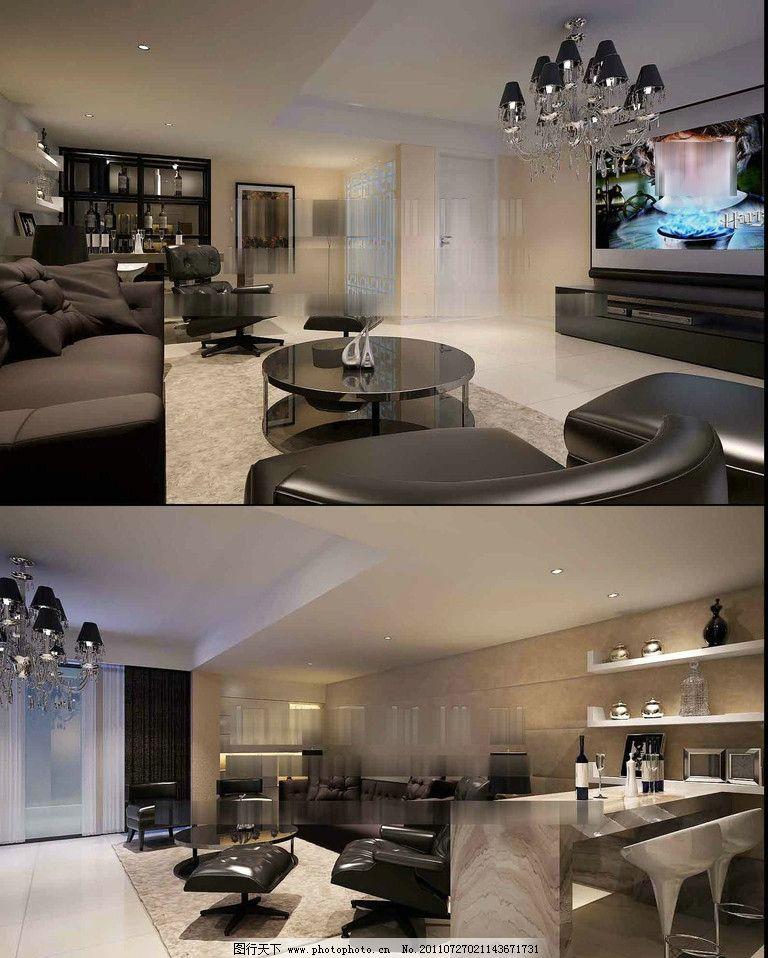 欧式客厅模型图片图片