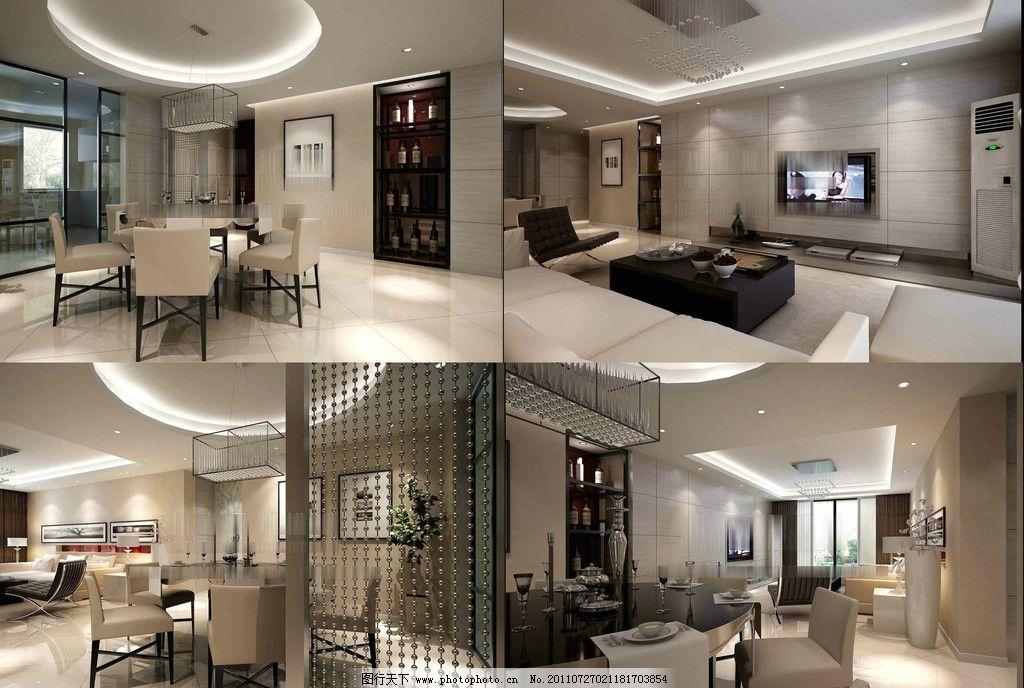 现代家装模型 工装模型 环境艺术设计 欧式风格 室内模型 别墅设计