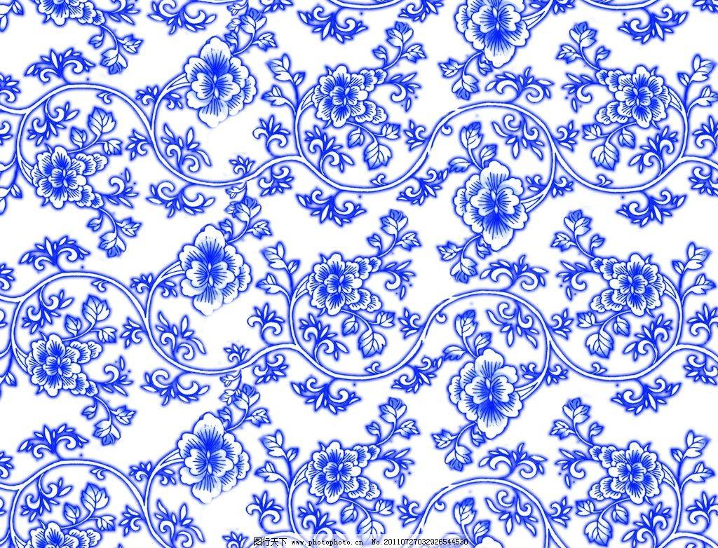 青花瓷 底纹 花边 边框 背景素材 psd分层素材 源文件 300dpi psd