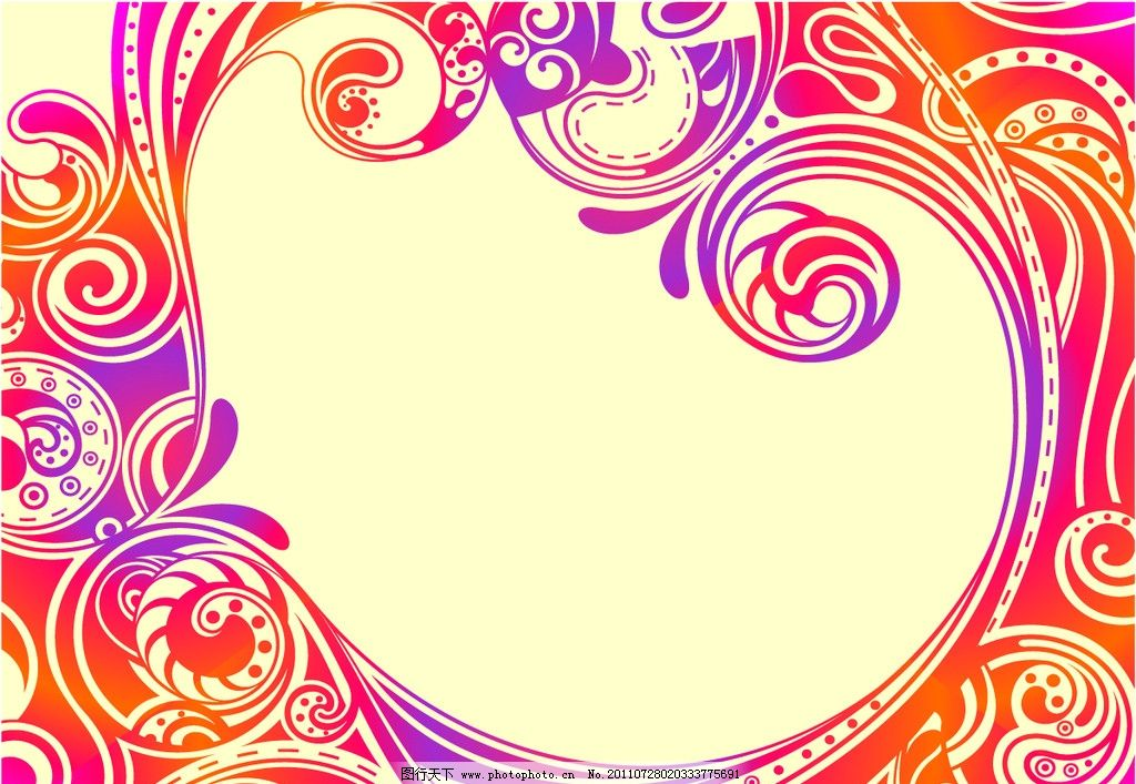 欧式边框 欧式古典花纹 古典花纹 花纹 花边 手绘花纹 线描 纹样 边框