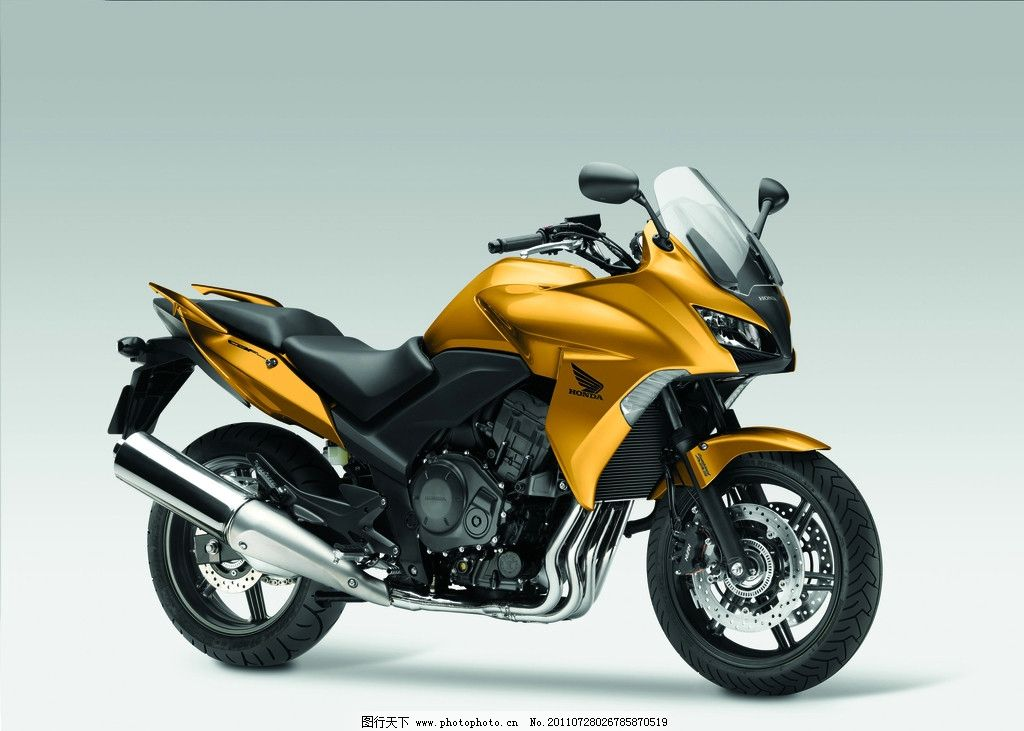 摩托车 本田 交通工具 现代科技 黄色摩托车 日本进口 设计 300dpi jp