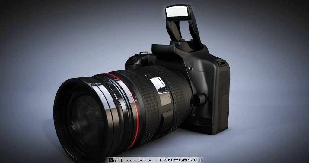 单反相机 相机 镜头 照相机 闪光灯 图片素材 军事武器 现代科技 设计