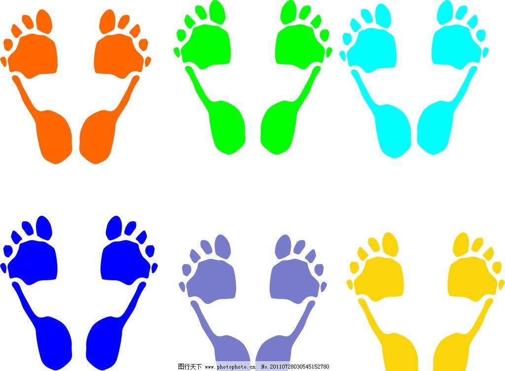 颜色各异的小脚丫图片