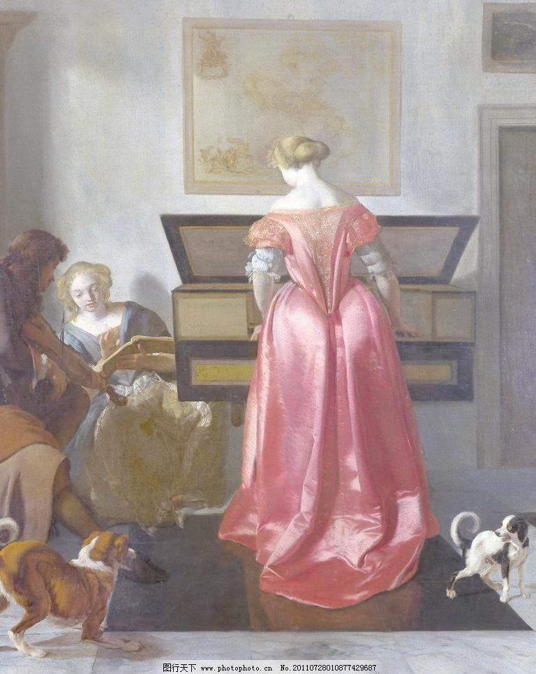 欧式古典人物油画图片
