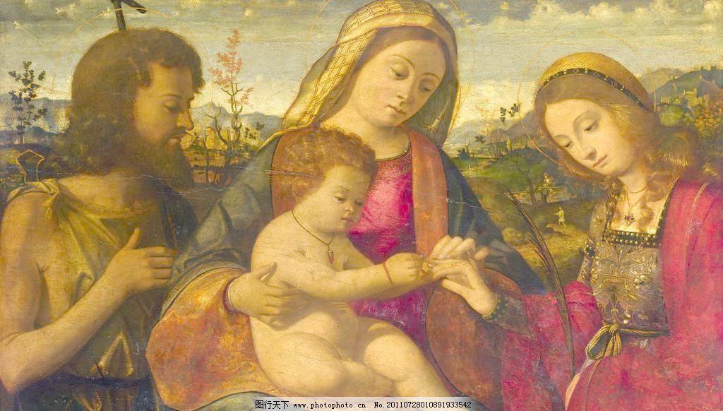 欧式宗教人物油画图片