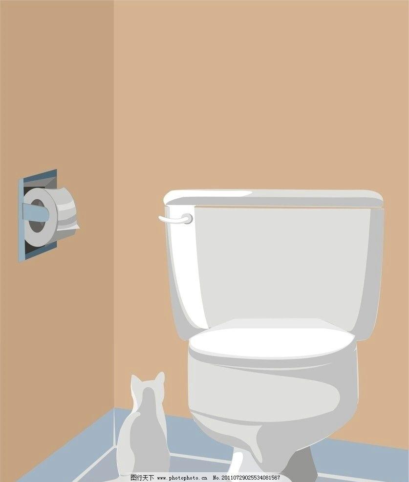 马桶 猫图片