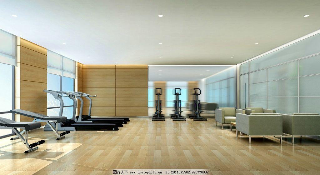 健身房效果图图片