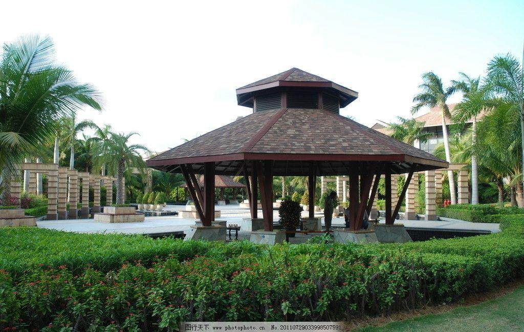 凉亭 公园 景观建筑 国内旅游