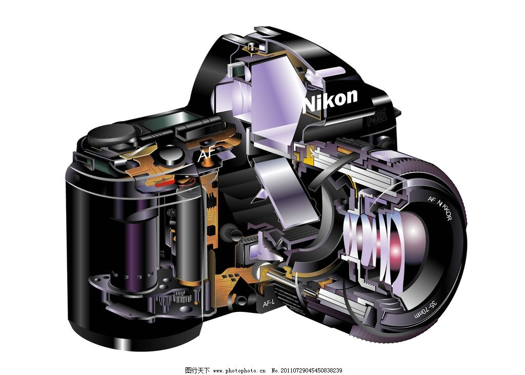 单反 相机 结构 数码产品 现代科技 设计 72dpi jpg