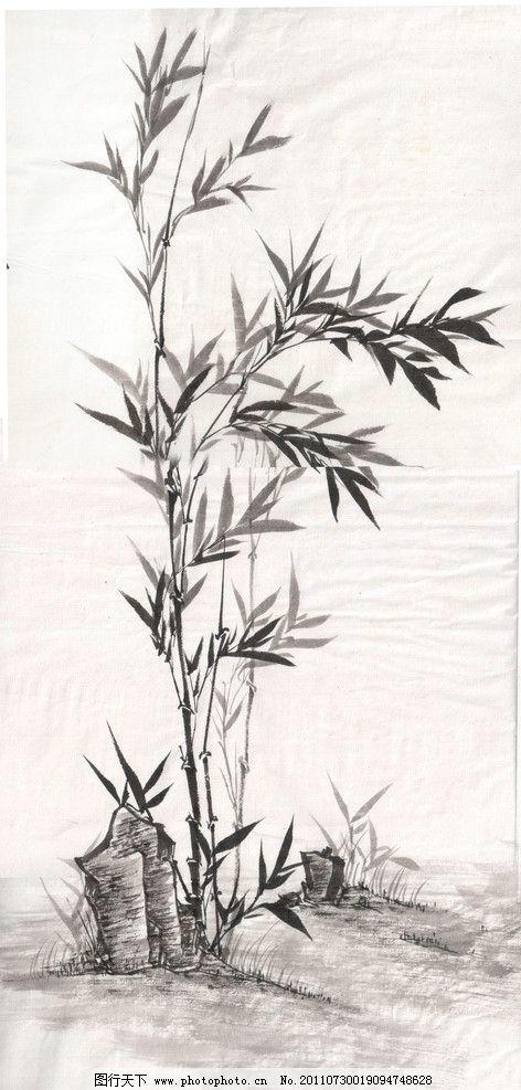 中国画 墨竹 君子 竹子 国画 绘画书法 文化艺术 设计 300dpi jpg
