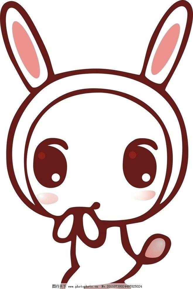 兔子 卡通 cdr 矢量 可爱 动物 野生动物 生物世界