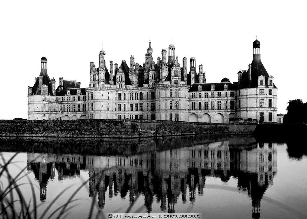 黑白 建筑 欧式 巴洛克