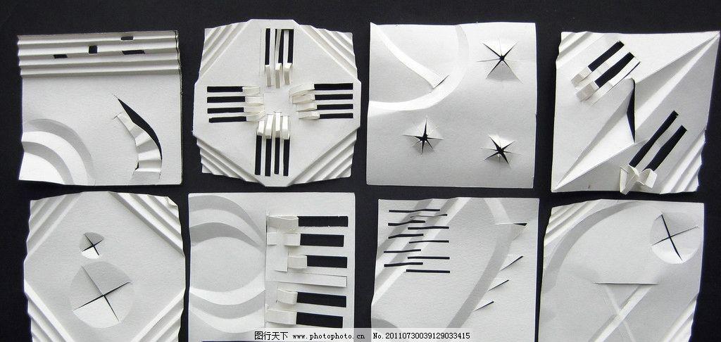 设计图库 文化艺术 节日庆祝  立体构成 二维空间 纸质构成 多刀多切