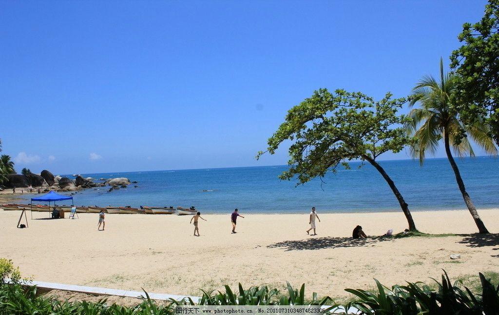 大海沙滩 三亚 大海 沙滩 蓝天 自然风景 自然景观 摄影 72dpi jpg