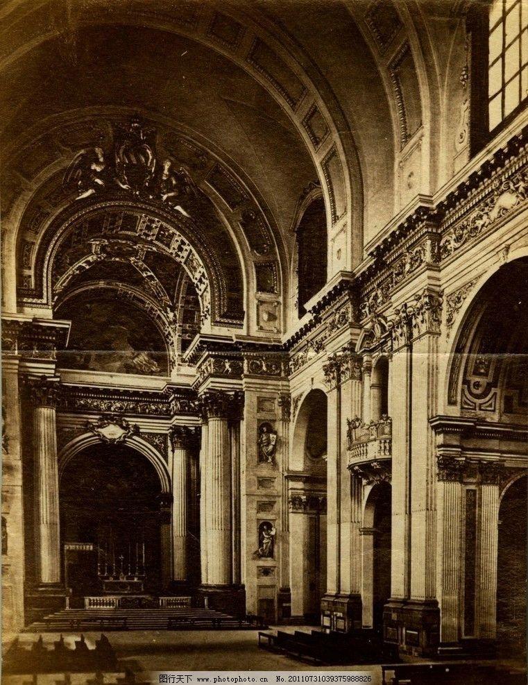 教堂 灯 过道 古代建筑 室内设计 室内摄影 建筑园林 摄影 1200dpi