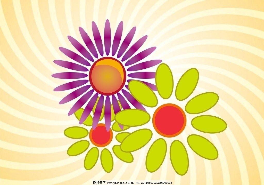 花朵 太阳花 底纹背景 底纹边框 矢量 cdr