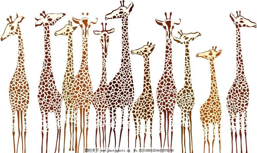手绘长颈鹿图片