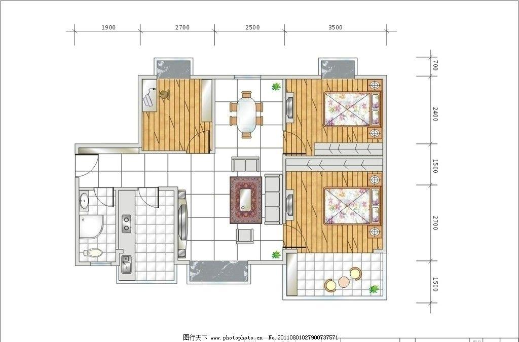 家装平面图 装修平面图 平面图 室内设计 建筑家居 矢量 cdr
